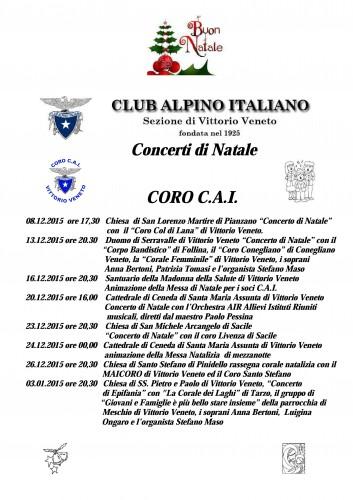 Concerti di Natale 2015 CORO C.A.I. Vittorio Veneto jpg